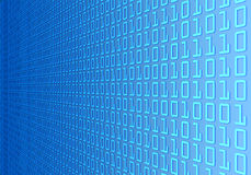 Binary code wall. Wall of binary code. Concept of technology Stock Photo