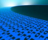 Binary code way to laptop Stock Photos