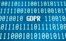 Binary code with the word GDPR Stock Photography
