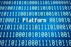 Binary code with the word Platform stock image