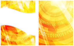 Binary code yellow background Stock Photo