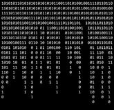Binary code zero one matrix black background beautiful banner wa Stock Photography