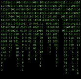 Binary code zero one matrix green background beautiful banner wa. Llpaper design illustration Royalty Free Illustration