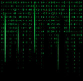 Binary code zero one matrix green background beautiful banner wa Stock Photo