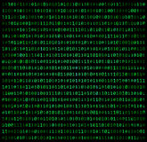 Binary code zero one matrix green background beautiful banner wa Stock Photos