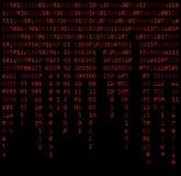 Binary code zero one matrix red background beautiful banner wall. Paper design illustration Vector Illustration