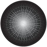 Binary Codes in Circle Royalty Free Stock Photography