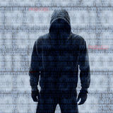Binary codes with hacked password royalty free stock image
