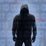 Binary codes with hacked password royalty free stock photos