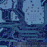 Binary codes and Microchips. Details Royalty Free Stock Image