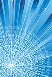 Binary codes on tech background Stock Photo