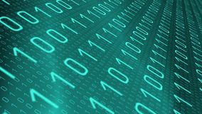Binary coding background, cyber attack crime royalty free illustration