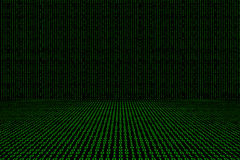 Binary computer code green  background Royalty Free Stock Image
