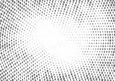 Binary computer code halftone pattern. With 1 and 0 numbers. Matrix background with zero and one. Digital data cryptography texture royalty free illustration