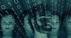 Binary computer code, programming background Royalty Free Stock Image