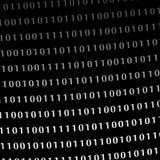 Binary computer language monitor digits Royalty Free Stock Image