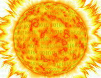 Binary Corona In Red And Yellow Over White Stock Photos