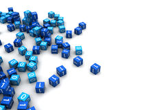Binary cubes Royalty Free Stock Photo