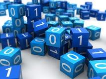 Binary cubes Stock Photo