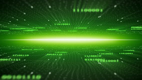 Binary cyberspace abstract green background Stock Image
