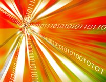 Binary data background vector illustration