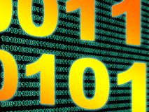 Binary data background Stock Photography