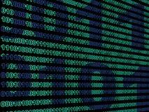Binary data background Royalty Free Stock Photos