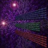Binary data code abstract illustration Royalty Free Stock Photos