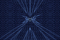Binary data code illustration Royalty Free Stock Photo