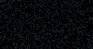 Binary data grid stock video