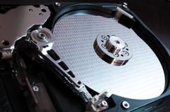 Binary data on hard drive Stock Photo