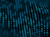 Binary data. Illustration of binary data background Royalty Free Stock Photo
