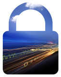 Binary data & lock. Photo illustration of data going through a network Royalty Free Stock Images