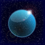 Binary data sphere. Illustration of a binary data information sphere Vector Illustration