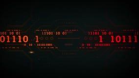 Binary Data Streams Black stock footage