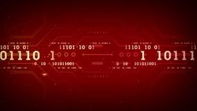 Binary Data Streams Red stock footage