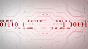 Binary Data Streams Red Lite stock footage