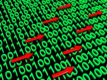 Binary data traffic Stock Photo