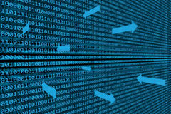 Binary Data Transfer Background Royalty Free Stock Images