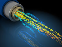 Binary data in wire Royalty Free Stock Photo