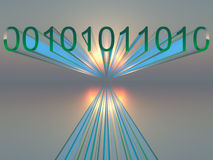 Binary Digital Horizon Background royalty free stock photos