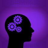 Binary digital and human background. In purple with space for text Stock Image