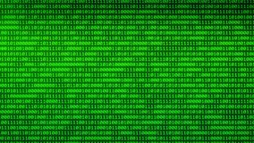 Binary Digital Moving through glowing binary walls random numbers background. You can use backgrounds for vfx, blog, vlogs, presentations, commercials vector illustration