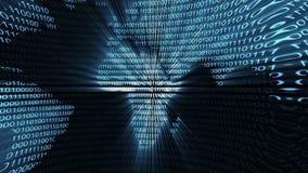 Binary digital world computer data code cyberspace graphic animation. Digital world binary computer code Internet cyberspace graphic animation that can be used stock illustration