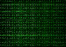 Binary Digits background. Abstract green Binary Digits background Stock Images