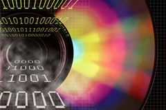 Binary DVD. DVD and Binary numbers royalty free illustration