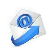 Binary email illustration envelope design Stock Photography