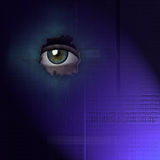 Binary  eye Royalty Free Stock Photos