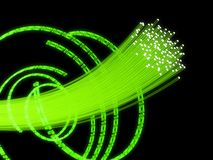Binary and fiber optic Stock Photo