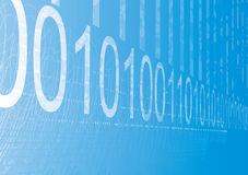 Binary figures abstract background. Royalty Free Stock Photo